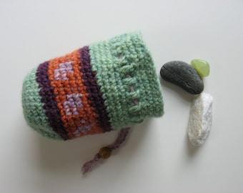 wool drawstring pouch medicine dice bag