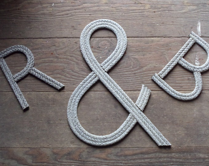 10 INCH Rope Letters Room Decor Kids Name or Nursery Sangs Nautical Themes Cowboy Rustic Nautical Nursery