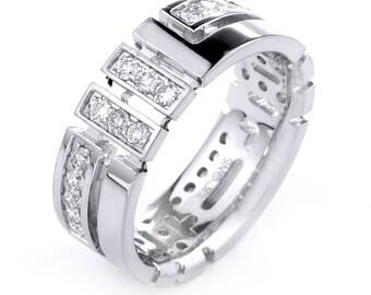 Mens Diamond Wedding Band, Diamond Men's Band, Men's Band, Men's Wedding  Ring, Men's Engagement Ring, Men's Diamond Ring,  Anniversary Gift