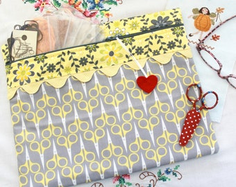 The Scissor Collector Cross Stitch, Sewing, Embroidery Project Bag