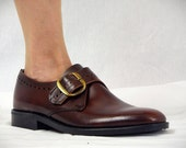 Mens 60s Monk Strap Shoes * Mens Brown Leather Shoes * Mens 60s Shoes * Mens Mod Shoes * Londontown