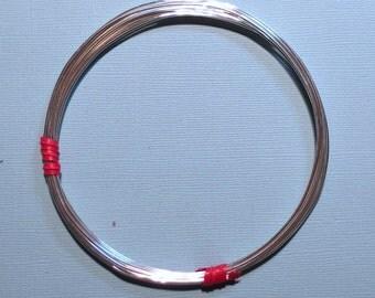 3 Feet 18 gauge Sterling Silver Wire - Round, Soft