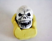 Silicone large skull mold for cake decorating, chocolate, hard candy, polymer clay, resin, wax, soap, silicone mould M019