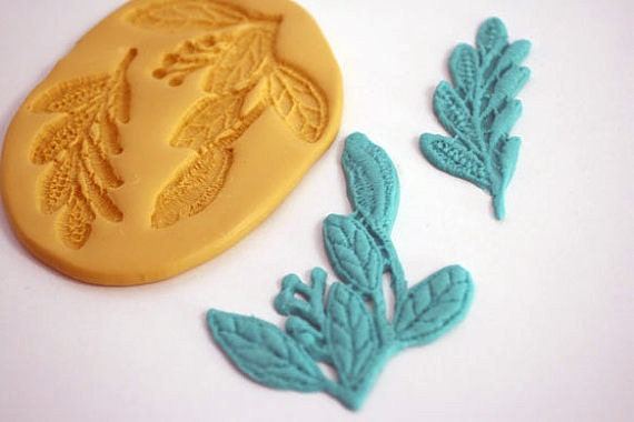 Foil Leaves Cake Decorating : Leaf lace mold for cake decorating chocolate by ...