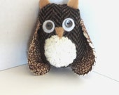 Handcrafted Owl Ornament, Woodland Home and Nursery Decor