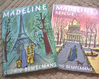 Madeline and Madeline's Rescue Hardcover Books by Ludwig Bemelmans