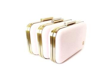 bridesmaids gifts, blush wedding clutches, set of 3 bridesmaid clutches, blush bridesmaid, blush wedding, wedding clutches, blush clutches