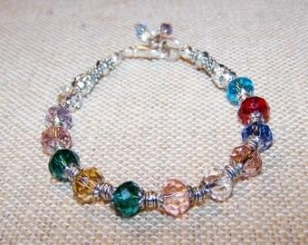 Mothers Bracelet, Birthstone Bracelet, Handmade Custom mom Bracelet