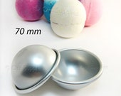 1 Metal Bath Bomb Fizzies Mold 2.75 inches / 70mm