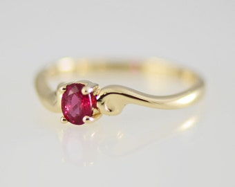 Ruby Ring 14k Yellow Gold Ruby Band