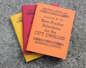 """Original Illustrated Book: """"New Poultry Selections for the City Dweller"""""""