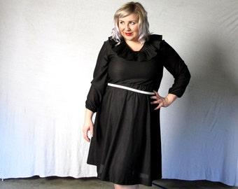 Wednesday Addams Night out -Plus size Dress- Vintage-xxl