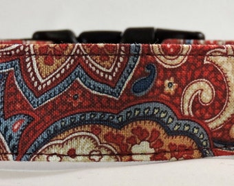 Dog Collar - Dog, Martingale or Cat Collar - All Sizes  - Western Paisley