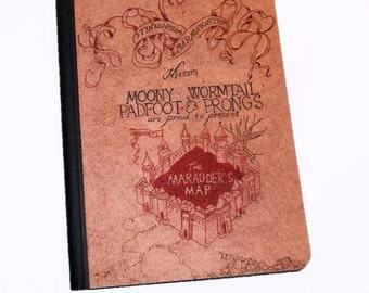 Harry Potter Marauder's Map. -  Blank Journal Note Book MTCoffinz