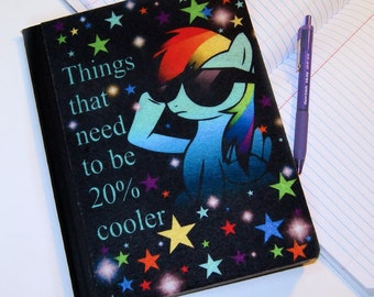 My Little Pony Rainbow Dash 20% Cooler  -  Blank Journal Note Book MTCoffinz
