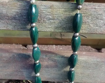 Vintage Green Stone Necklace