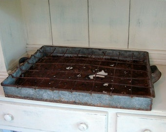 Vintage Milk Crate   Rustic Tray   Vintage Decor   Farmhouse Decor