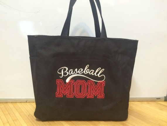 Personalized Baseball Mom Tote Snack Bag Embroidered