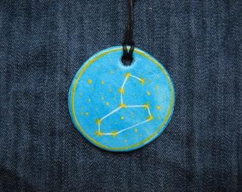 Leo Jewellrey -Zodiac pendant,Constellation Zodiac Jewellery,august zodiac- Astrology - Astronomy - Constellation on Blue