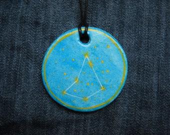 Capricorn Jewellrey -Zodiac pendant,Constellation Zodiac Jewellery,august zodiac- Astrology - Astronomy - Constellation on Blue