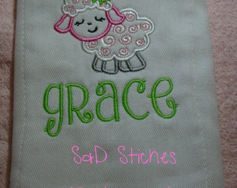 Burp Cloth Personalized