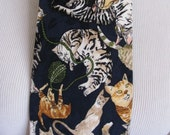 Nicole Miller 1993  - Mens Cat Pattern Design Silk Neck Tie