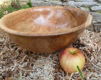 "Spalted Red maple wood bowl large 14""wood bowl salad bowl dough bowl rustic wood bowl"