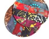 Quilted Fabric Coasters, Large Mug Rugs, Batik Fabrics
