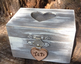 Custom Wedding Ring Box Alternative To The Ring Pillow Rustic Woodland Outdoor Wedding