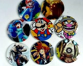 Comic Pocket Mirror Featuring Assorted Video Game Characters