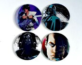 Comic Pocket Mirror Featuring Star Wars and Star Trek