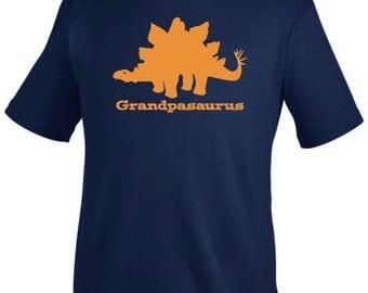 Grandpasaurus Stegosaurus Dinosaur Personalized Shirt - pick your colors!