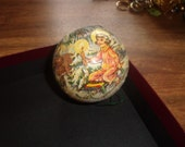 vintage christmas tree ornament germany paper mache gift candy container