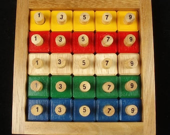 Giant Puzzle - Wood Puzzle - Very Challenging Puzzle - Logic Puzzle - Sudoku Style Puzzle - Historic Puzzle - Brain Teaser