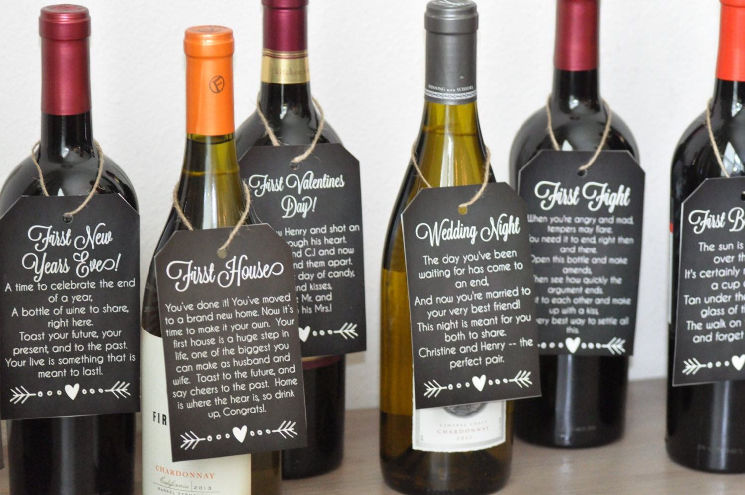 It's just a photo of Declarative Free Printable Wine Tags for Bridal Shower