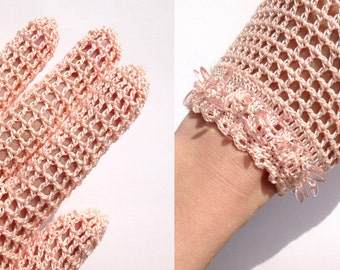 Spring Gloves with Glass Beads