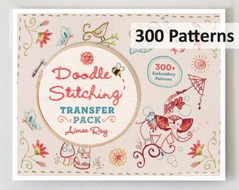 AIMEE RAY Doodle Stitching 300 hand embroidery Patterns transfer pack hand stitching iron-on