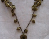 vintage heart sweater chain - angel, floral, victorian, romantic