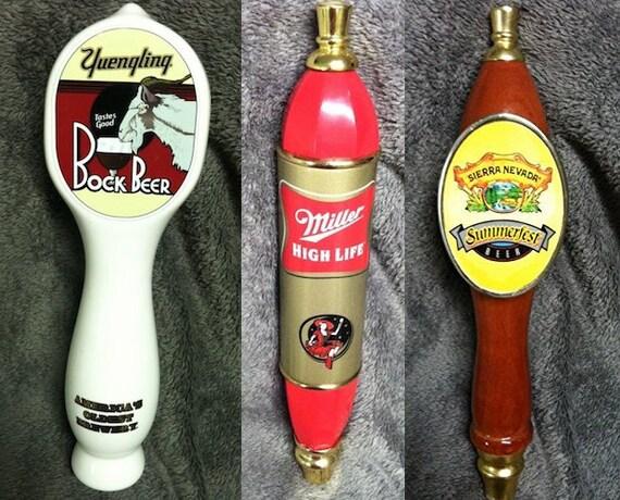 Beer Keg Tap Handle Lot Miller Yuengling & Sierra Nevada