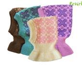 Balaclava - 1 - 10 years 100% merino wool knit/knitted baby/children girl/boy helmet hat coif hood scarf ski north winter neck warmer nordic