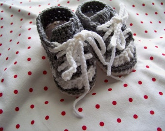 Crocheted Baby Tennis Shoes