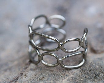 Organic Bracelet - Mirror Shine - Stainless Steel Bracelet