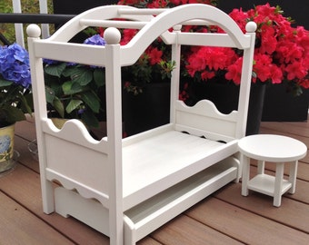 American Girl Doll: Furniture, Canopy Bed for 18 in American Girl doll