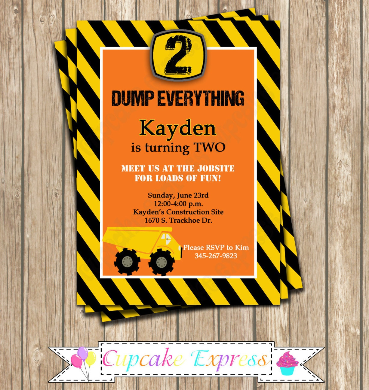 DIY Construction Zone Birthday Party PRINTABLE By