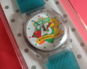 Rare Never Used 1993 Sesame Street Watch ~ 25 Years Children's Television Workshop ~ Sesame Street Muppets ~ Jim Henson Productions, Inc.