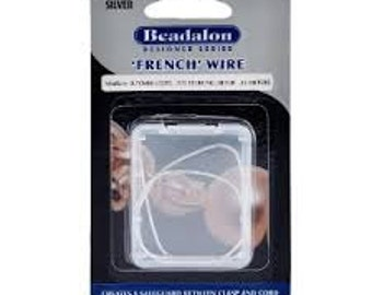 """Beadalon .925 Sterling Silver French Wire Fine (I.D. 0.60mm (.24""""), 30cm.)"""