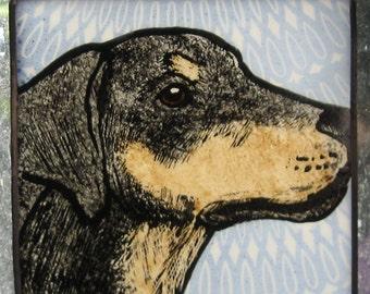 Dobermann or Dachshund Stained Glass Dog Suncatcher JRN059