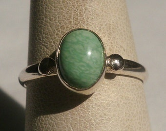 Sterling Silver Marbled Ring-Size 7