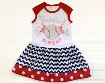 Girls Baseball Dress Baseball Sister Dress Girls Baseball Clothing Baseball Outfit