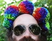 Rainbow Pom-Pom Headdress